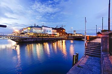 Suellshamnen near the central station and Malmo University, Maritime University, Malmo, Skane, Sweden, Scandinavia, Europe