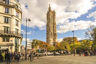 Square de la Tour Saint-Jacques, 4th Arrondissement, Paris, France, Europe