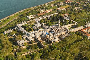 Topkapi Palace, UNESCO World Heritage Site, from above, Istanbul, Turkey, Europe