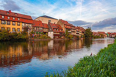 Old houses by the Fischerei on the Linker Regnitzarm, Little Venice, Bamberg, UNESCO World Heritage Site, Bavaria, Germany, Europe
