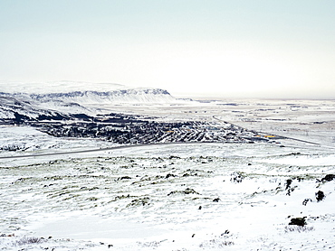View from Road 1 close to Urridafoss waterfall, Iceland, Polar Regions