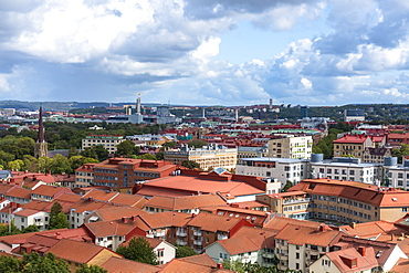Elevated view of the city centre of Gothenburg, Sweden, Scandinavia, Europe