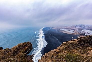 Reynisfjara, a black-sand beach found on the South Coast of Iceland, Polar Regions