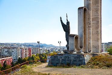 Monument to Saint Nino in Tbilisi, Georgia, Central Asia, Asia