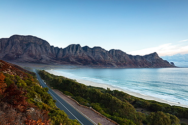 Kogel Bay during blue hour, Cape Town, South Africa, Africa