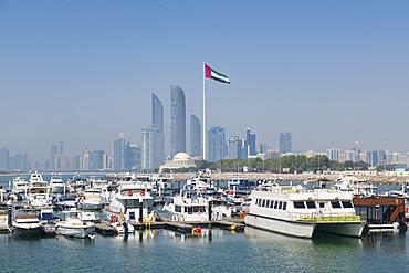 City skyline and Marina, Abu Dhabi, United Arab Emirates, Middle East