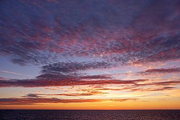 Sun setting over Baltic Sea, Atlantic Ocean, Russia, Europe