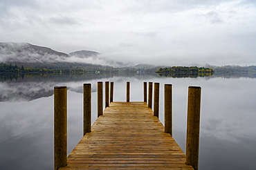 Ashness Pier Landing Jetty, Derwentwater, Keswick, Lake District National Park, UNESCO World Heritage Site, Cumbria, England, United Kingdom, Europe