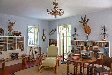Author's studio at the Ernest Hemingway Home and Museum, Old Town, Key West, Florida Keys, Florida, United States of America, North America