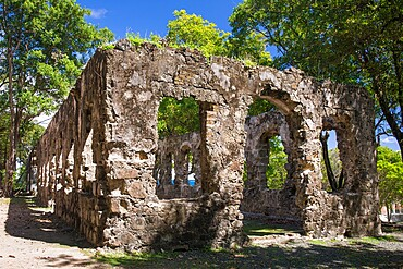 Historic military ruins, Pigeon Island National Landmark, Gros Islet, St. Lucia, Windward Islands, Lesser Antilles, West Indies, Caribbean, Central America