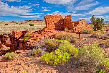 Lomaki Pueblo Ruins, Wupatki National Monument, Arizona, United States of America, North America