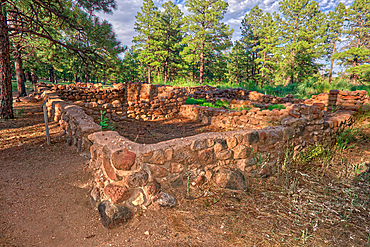 Elden Pueblo, site of ancient Sinagua village, in Flagstaff, Arizona, United States of America, North America