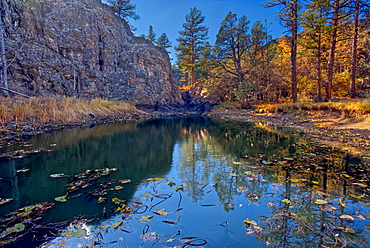 Pomeroy Tanks near Sycamore Falls. Located in the Kaibab National Forest near Williams Arizona.