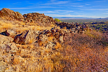 Ancient Indian Ruins near Granite Mountain in the Prescott National Forest of Arizona.