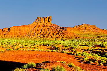 Formation in Valley of the Gods called the Seven Sailors, located near the town Mexican Hat, Utah, United States of America, North America