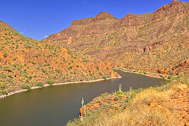 The Salt River along State Route 88, which is the oldest route in Arizona. Located just north of Apache Junction.