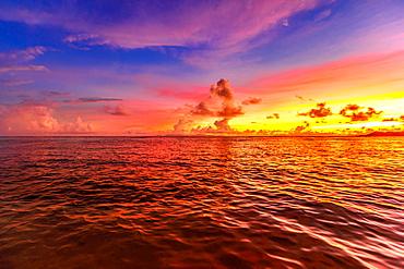 Anse Source d'Argent at sunset, La Digue, Seychelles, Indian Ocean, Africa
