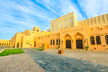 Entrance of Katara village (Valley of Cultures) in Doha, West Bay District, Doha, Qatar, Middle East
