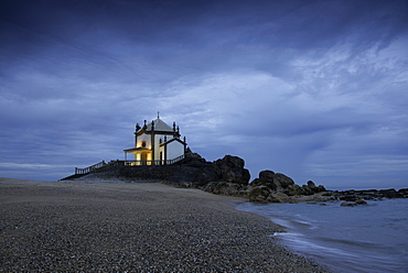 Capela do Senhor da Pedra (Chapel of the Lord of Stone), at a coastal site originally used for pagan worship, Miramar, Greater Porto, Portugal, Europe