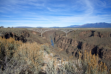 Rio Grande Gorge Bridge, Taos, New Mexico, United States of America, North America