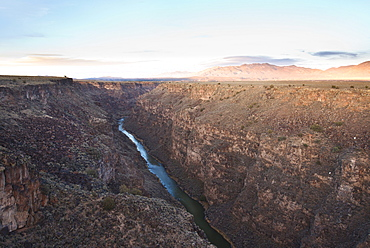 Rio Grande Gorge in Taos, New Mexico, United States of America, North America