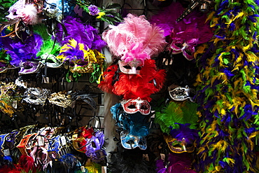 Mardis Gras masks for sale in New Orleans, Louisiana, United States of America, North America
