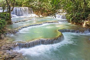 Kuang Si falls near Luang Prabang, Laos, Indochina, Southeast Asia, Asia