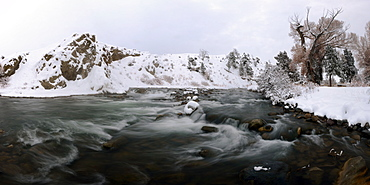 Gardner River, Montana, United States of America, North America