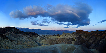 Sunrise from Zabriskie Point, Death Valley National Park, California, United States of America, North America