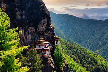 The famous Paro Taktsang monastery (Tiger's Nes) in Bhutan, Himalayas, Asia