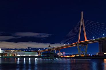Kawasakibashi Bridge in Osaka, Japan, Asia
