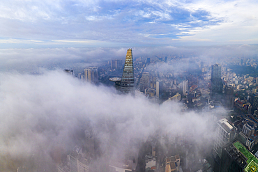Clouds in the city, Ho Chi Minh, Vietnam