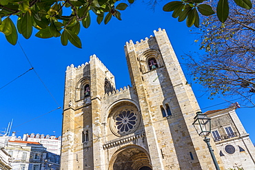 Lisbon Cathedral (the Se), a Roman Catholic cathedral located in Lisbon, Portugal, Europe