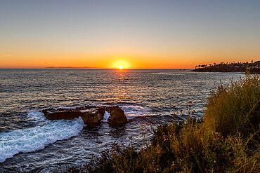 Laguna Beach sunset, California, United States of America, North America - 1329-2