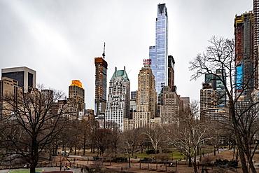 Manhattan skyline, New York, United States of America, North America - 1329-7