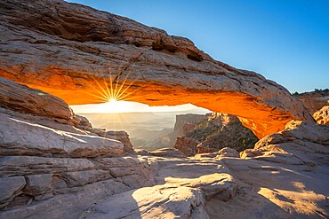 Sunburst at Mesa Arch, Canyonlands National Park, Utah, United States of America, North America
