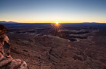 Sunrise at Grand View Point, Canyonlands National Park, Utah, United States of America, North America
