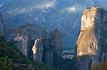Sunrise on the Meteoras, Meteora, Thessaly, Greece, Europe