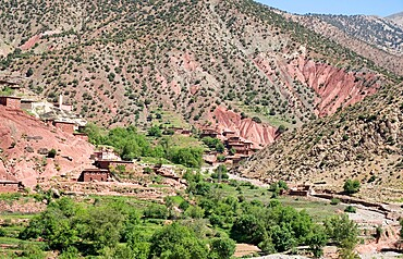 Poor villages in the most remote valleys of Morocco, North Africa, Africa