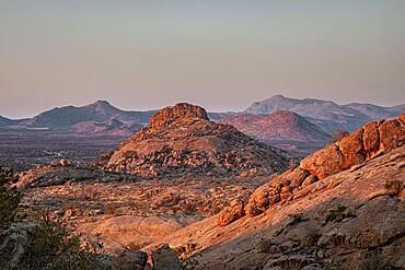 Sunrise in the Erongo Mountains, Namibia, Africa
