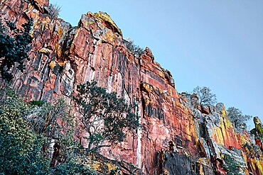 Waterberg Plateau colored rock formation, Namibia, Africa