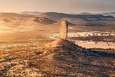 Vingerklip rock formation at sunset, Namibia, Africa