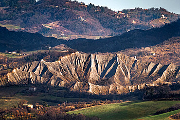 Countryside hills and badlands, Emilia Romagna, Italy