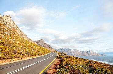 Road near Pringle Bay, Western Cape, South Africa, Africa