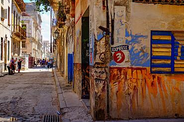 Typical street, Havana, Cuba