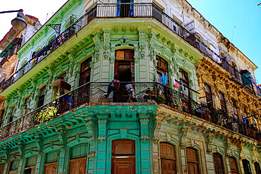 Colorful architecture, Havana, Cuba, West Indies, Central America