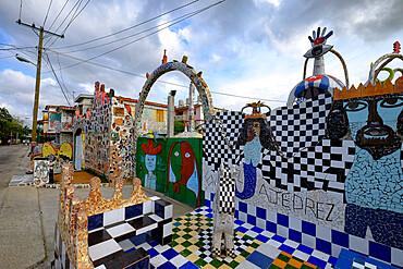 Amazing mosaics form the village of Fusterlandia, Havana, Cuba, West Indies, Central America
