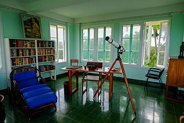 Interior of Ernest Hemingway's former home at Finca Vigia, San Francisco de Paula, Havana, Cuba
