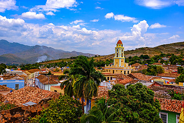 Rooftop view of Trinidad, UNESCO World Heritage Site, Sancti Spiritus, Cuba, West Indies, Central America