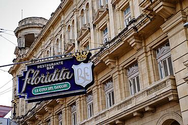 Neon sign of historic Floridita Bar in Havana, Havana, Cuba